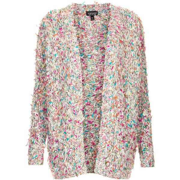 TOPSHOP Festival Cardigan (€81) ❤ liked on Polyvore featuring tops, cardigans, jackets, sweaters, casaco, multi, topshop, topshop tops, colorful cardigans and multi color cardigan