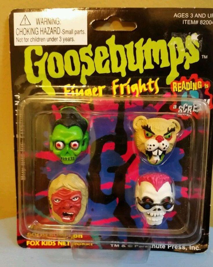 Goosebumps Finger Frights 4 Rings New 90s Fox Kids From