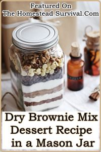 This Dry Brownie Mix Dessert Recipe in a Mason Jar is a frugal while delicious way to create your own pre measured food storage quick way to whip up brownies! FORGET BUYING Brownie Mixes in a box at your grocery store instead buy bulk ingredients and use a case of mason jars to make 12 …