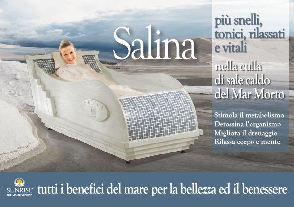 """Un bagno di sale caldo """"a secco"""" in Salina è l'ideale dopo uno sforzo muscolare; favorisce il relax e la distensione di tutto il corpo, dona benessere e nuova energia. L'effetto osmotico del sale solleva dalla fatica muscolare, mentre il caldo allevia tensioni e contratture. Salina: lo """"stretching"""" secondo natura!  http://www.sunrisespa.it/it/prodotti/benessere/vasca-di-sale-caldo/salina-vasca-di-sale-caldo/299/"""
