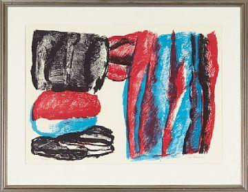 Knut Rumohr, Komposisjon, 1973 / Grafikk / Nettauksjon / Blomqvist - Blomqvist Kunsthandel