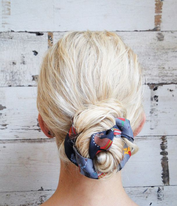 Scarf wrapped bun! A cute way to go from wet hair at the beach to a night out!!