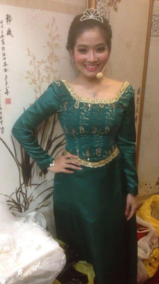 Costume for princess fiona (shark 2) #costume #princess #fiona #dress #green #madebyorder