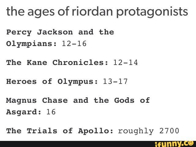 pjo, HoO, tkc, magnuschase, ToA... I approve of this trials of Apollo including post!