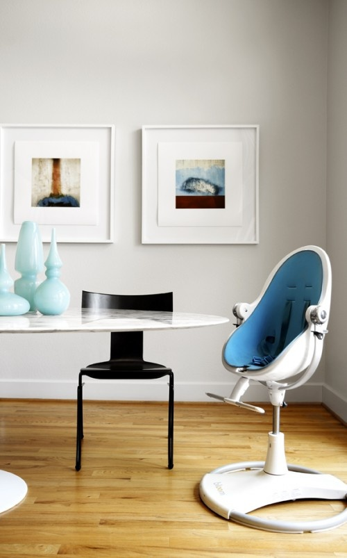 Contemporary Kids Space With Blue Modern Baby Chair
