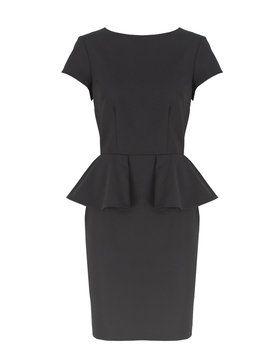 Alice +Olivia Black Peplum dress ($264)  Contact us at: Info@shopserafina.com