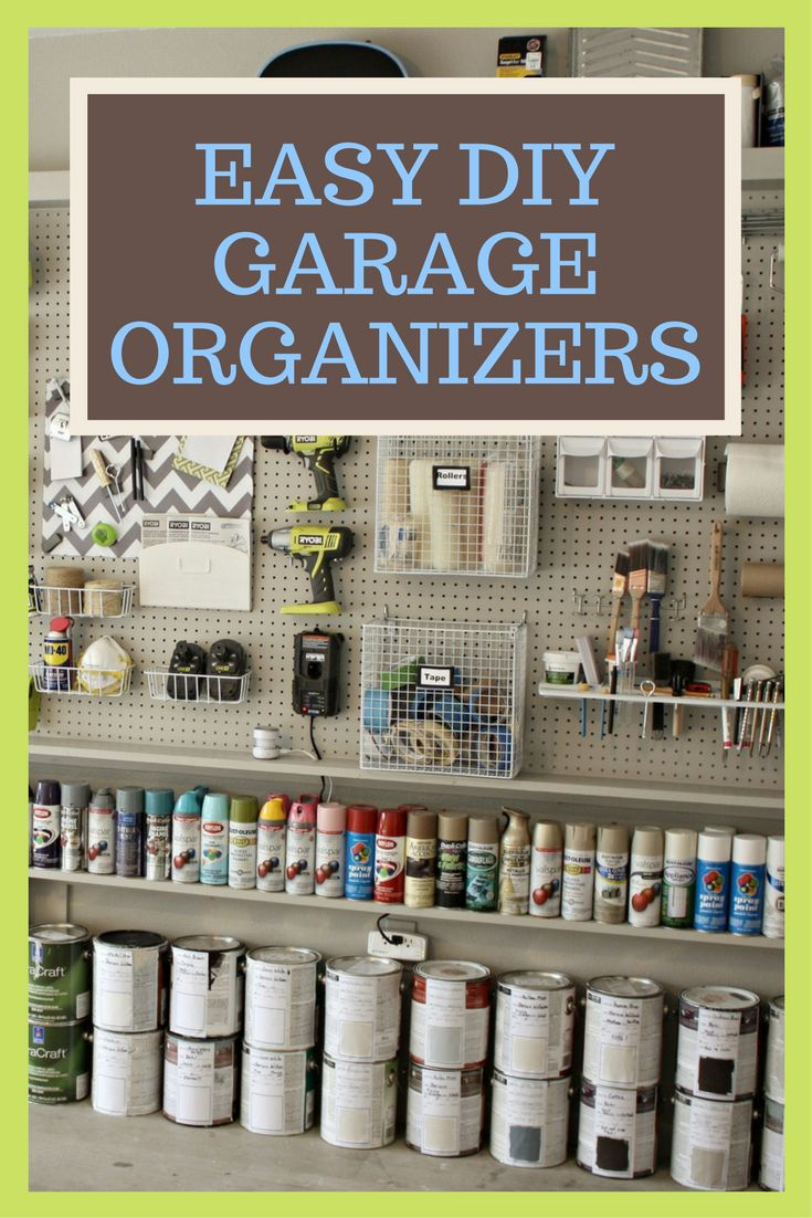 62 best garage storage and organization tips images on pinterest make room for the car 7 easy diy garage organizers solutioingenieria Choice Image