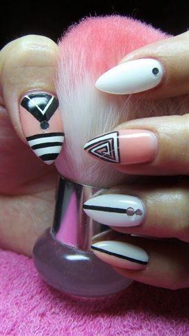 Abstract nails by Valkira from Nail Art Gallery