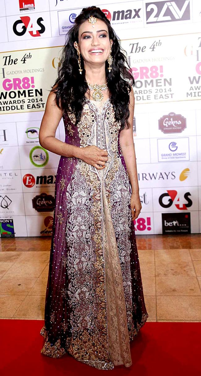Surbhi Jyoti at the 4th GR8! Women Awards 2014. #Style #Bollywood #Fashion #Beauty