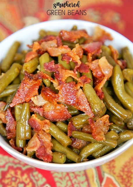 Smothered Green Beans Recipe on Yummly. @yummly #recipe | Trice's ...