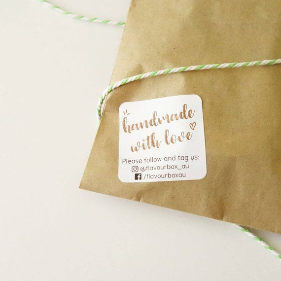 cc4eb2c47ff82 Handmade Labels - Product Label - Small Business Stickers - Etsy ...