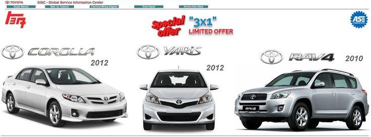 Toyota Offer Corolla/Yaris/Rav-4 Workshop Manuals