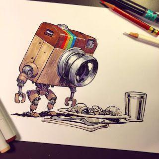 Personagens de desenhos e filmes animados,desenhados como robos - SEEARTDATCOM