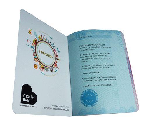 Carte livre d 39 or pour d part en retraite passeport pour la retraite cartes retraite pinterest - Exemple d album photo fait main ...