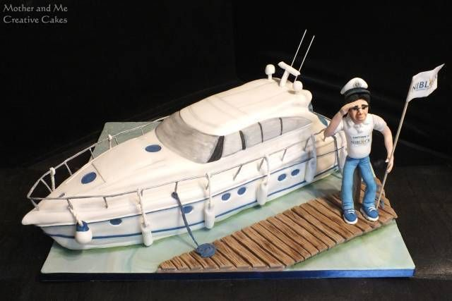 Yacht Cake - Cake by Mother and Me Creative Cakes - CakesDecor