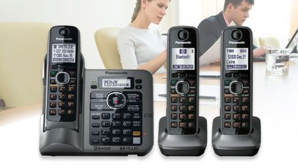 A cordless phone that connects to your cell phone via bluetooth.  It can connect to 2 phones!!  The benefits of a landline without the cost!!  Finally no more frantic running around the house when the cell rings;)