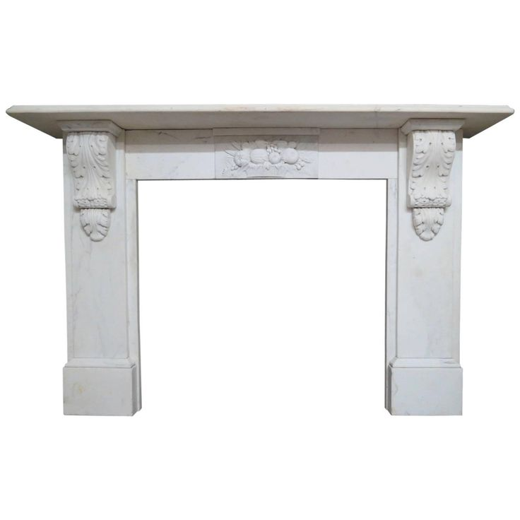 Statuary White Marble Antique Fireplace Mantel
