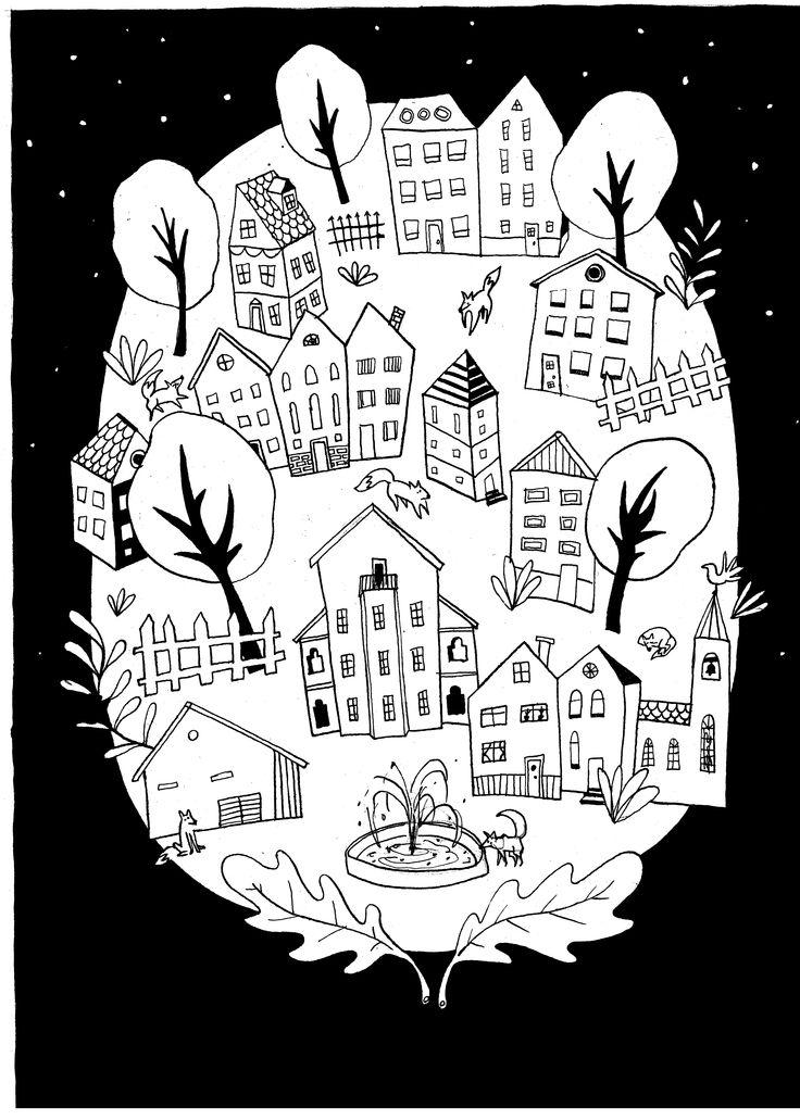 Illustration for a children's color book