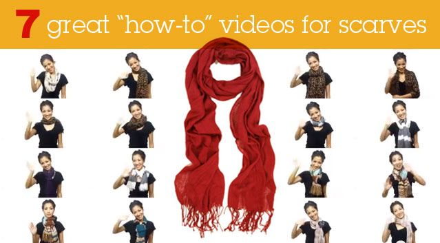 "Scarf Season: 7 Great ""How to"" Videos for Wearing ScarvesU201Chow To U201D, Wear Scarves Scarf, Scarf Wear, Scarf Seasons, Wear A Scarf, Awesome Collection, 4 5 Minute, Scarves Scarf Videos, To U201D Videos"