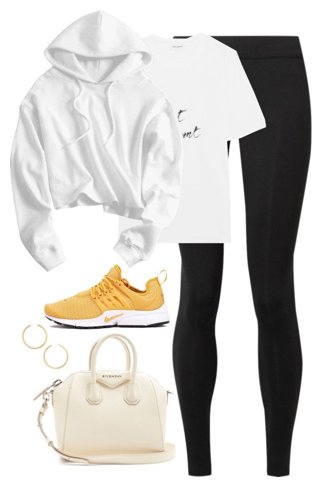 """""""Untitled #4653"""" by magsmccray on Polyvore featuring The Row, Yves Saint Laurent, Presto, Givenchy and BaubleBar"""