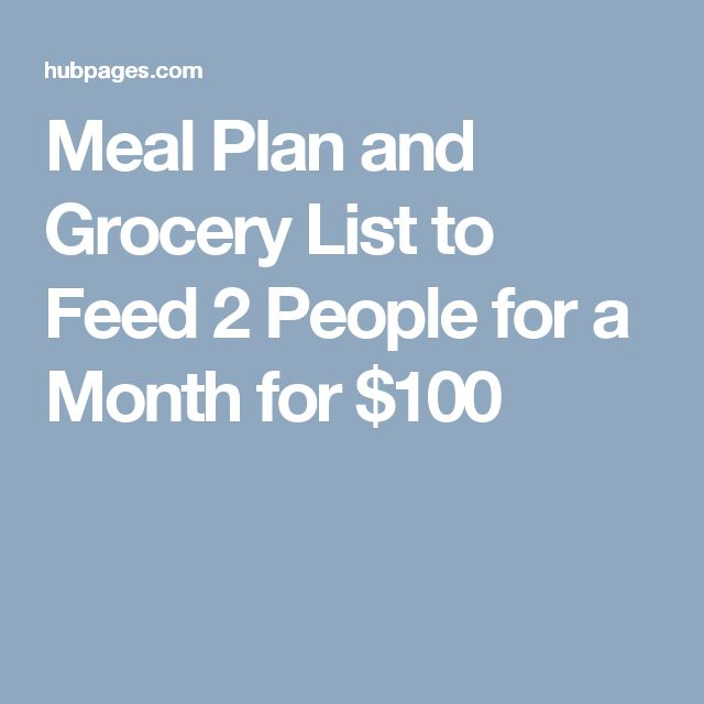 Meal Plan And Grocery List To Feed 2 People For A Month For 100 Vegan Meal Plans Meal Planning Budget Meal Prep