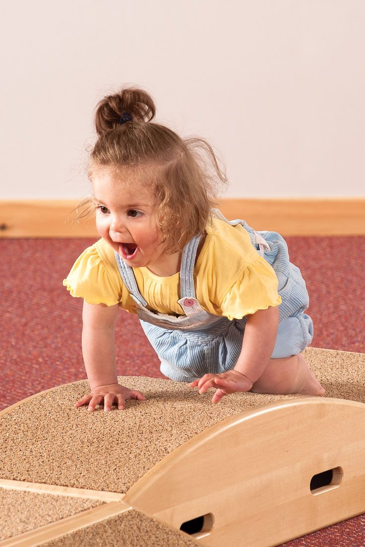 Negotiating a slope or stair is a big challenge for a one-year-old. ToddleBoxes provide a variety of slopes for young children to navigate.