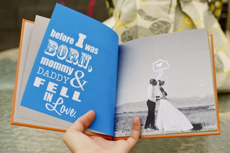 "I love the idea of creating a ""parents love story"" for kids to read.  A real life fairytale!"
