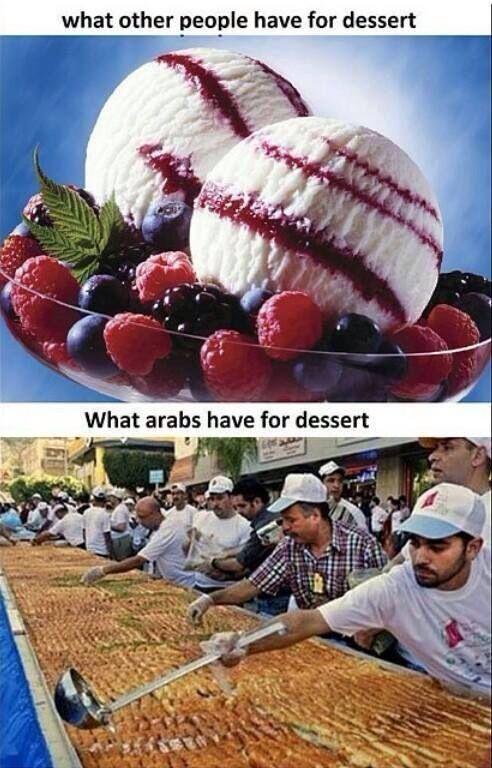 Arab dessert | Arab jokes/stuff | Arabic jokes, Arabic ...
