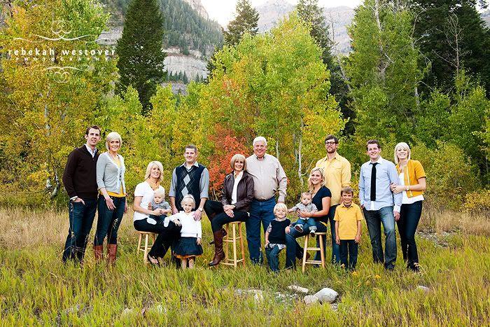 Fall grouping family photo