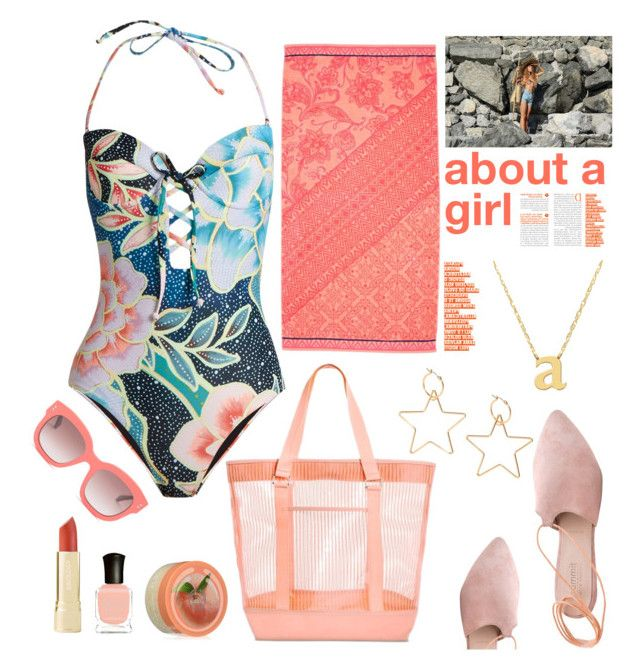 """""""about a girl"""" by felicitysparks ❤ liked on Polyvore featuring Mara Hoffman, Summit, Jane Basch, The Body Shop, STELLA McCARTNEY and Deborah Lippmann"""