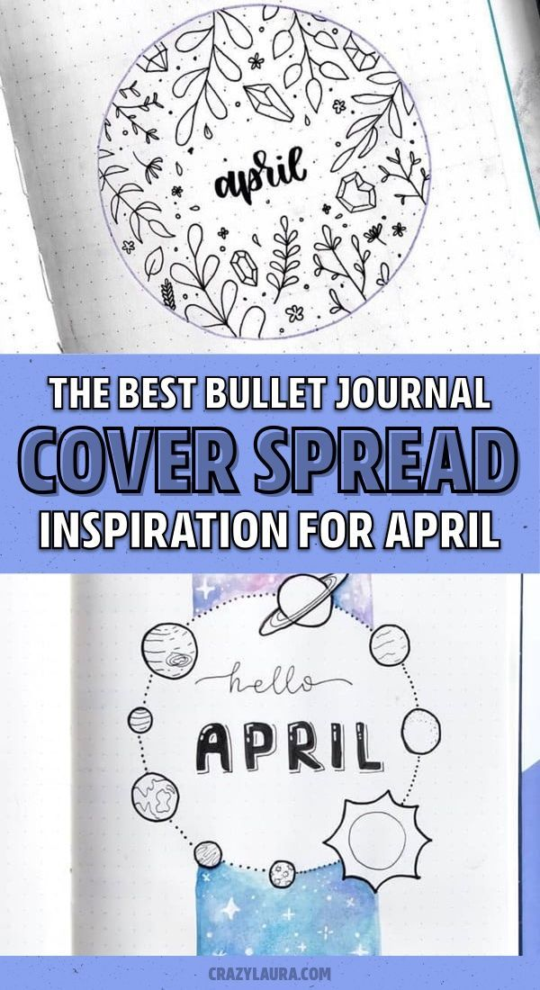 Bullet Journal Monthly Cover Ideas For April 2020 In 2020 April