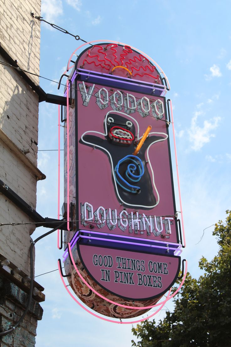 Get a famous Voodoo Doughnut in the heart of Portland Oregon. Voodoo Doughnut, Southwest 3rd Avenue, Portland, OR