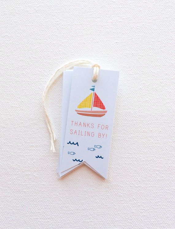 Sail boat nautical favor tags Birthday Favor Tags. by PrintSmitten, $10.00