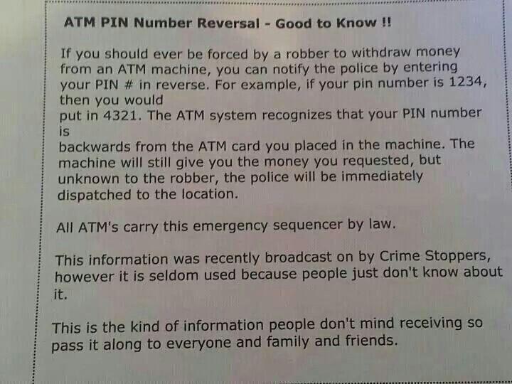 ATM Pin# Reversal