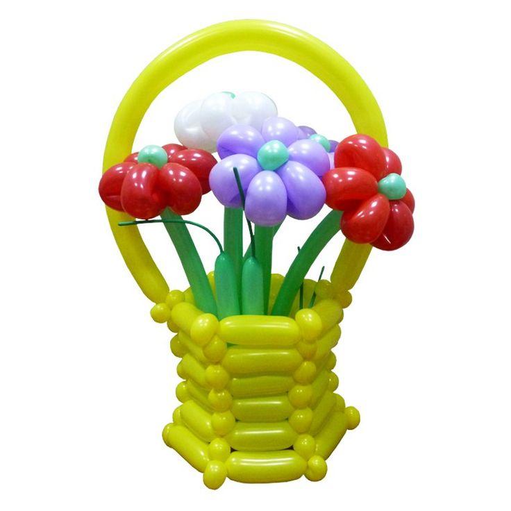 Корзина для цветов из воздушных шаров для моделирования (ШДМ 260). Простейшая корзина для цветов из воздушных шаров. Видео: https://youtu.be/dSgQ9B65h2Q Инструкция: http://sharlar.ru/page/twist-network.html Корзина для цветов из воздушных шаров, ваза корзина из ШДМ, flower vase made of balloons, basket of flowers from balloons