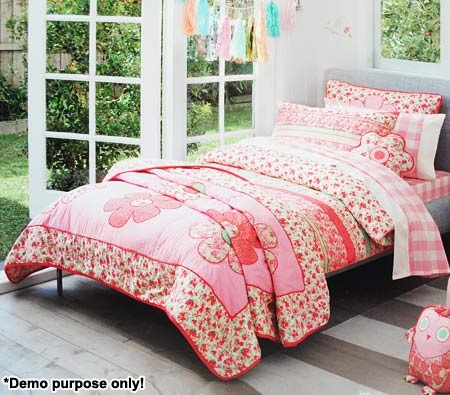 Sheridan Single Bed Childrens Quilt Cover Set - Junior Beatrice Popsicle | Crazy Sales