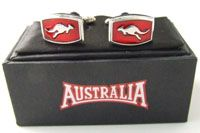 Australia Brand Cufflinks  Silver Metal - Red Kangaroo made in China (boxed)  SPECIAL - $12.00 or any 3 for $33.00 Code: CUFF-AUS02