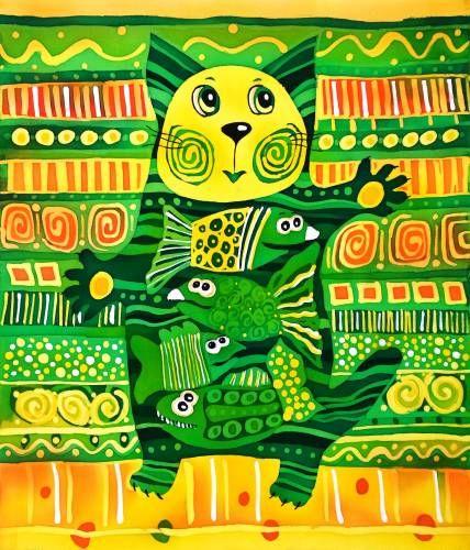 Батик : Сытый кот