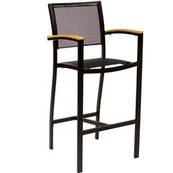 BFM Seating Delray Outdoor Restaurant Bar Stool with Arms [PH101B]   Outdoor Restaurant, Café Chairs for Sale