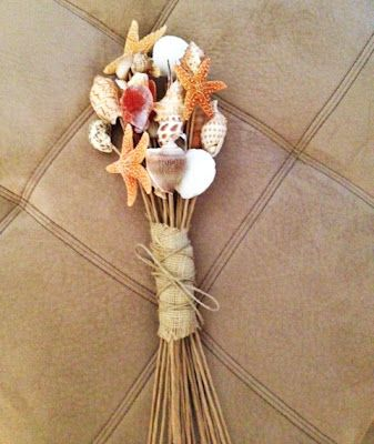 DIY Seashell Bouquet - OR seashells in the bouquet??
