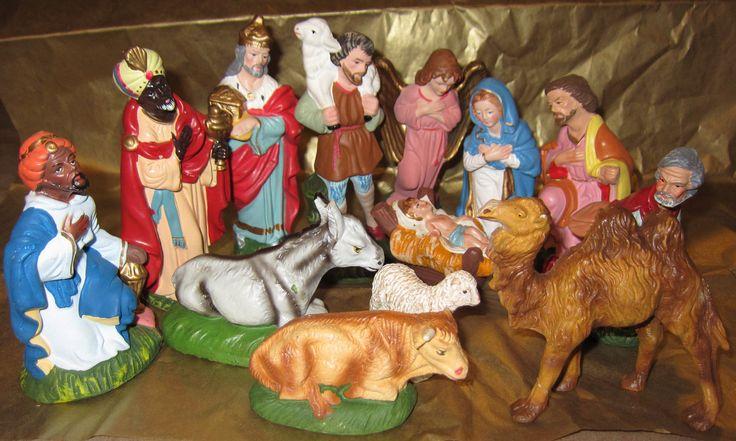 woolworth u0026 39 s 1950 u0026 39 s nativity set   40 00  via etsy