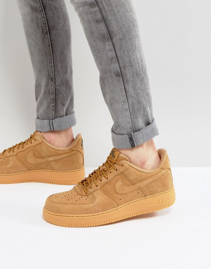 nike air force 1 '07 low flax trainers in beige nz
