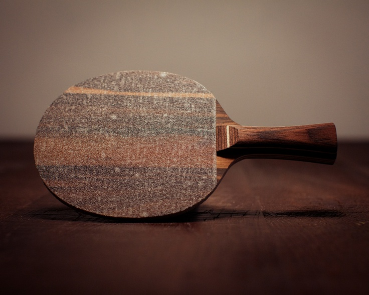 Bought a table tennis blade yesterday. I play with sandpaper, not rubber. And the wood grain was just so beautiful, so along came a bright idea: Go to a longboard shop and get some clear grip tape. Problem solved. :)