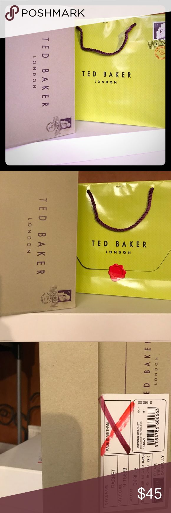Ted Baker London  Shoe Box and Shopping Bag Excellent Condition - Ted Baker London Shoes