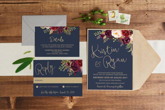 Hey, I found this really awesome Etsy listing at https://www.etsy.com/listing/486682999/printable-wedding-invitation-wedding