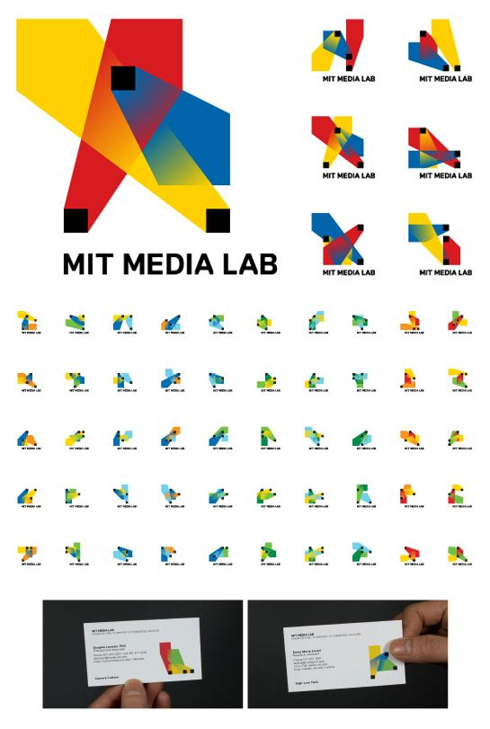 MIT Media Lab - my personal favourite haven't found an identity to beat this one yet. A full description and video showcase available at  http://www.thegreeneyl.com/mit-media-lab-identity-1