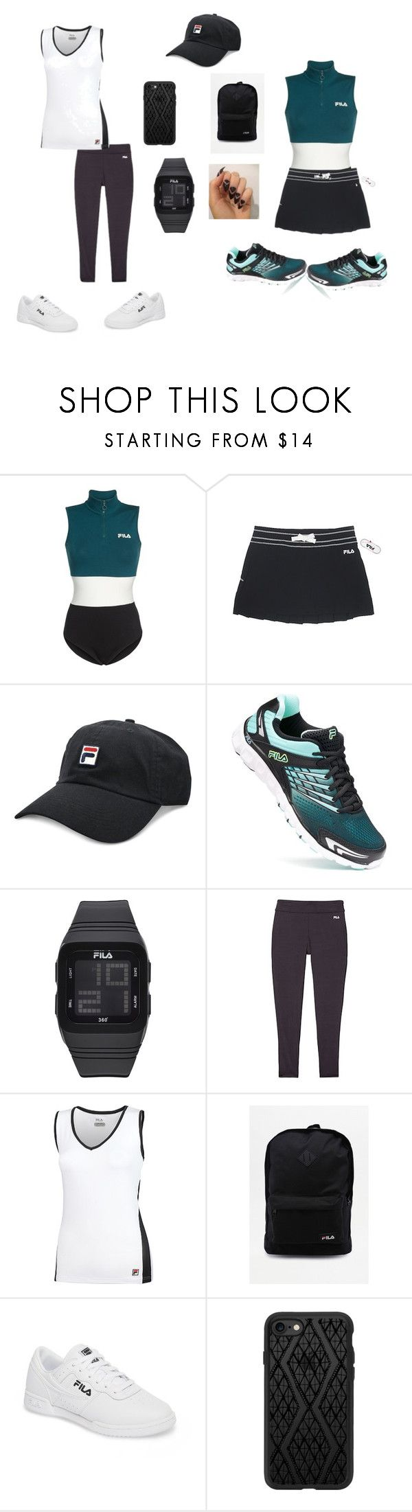 """2 for 1 FILA OUTFIT"" by bebejohnson ❤ liked on Polyvore featuring Fila and Casetify"