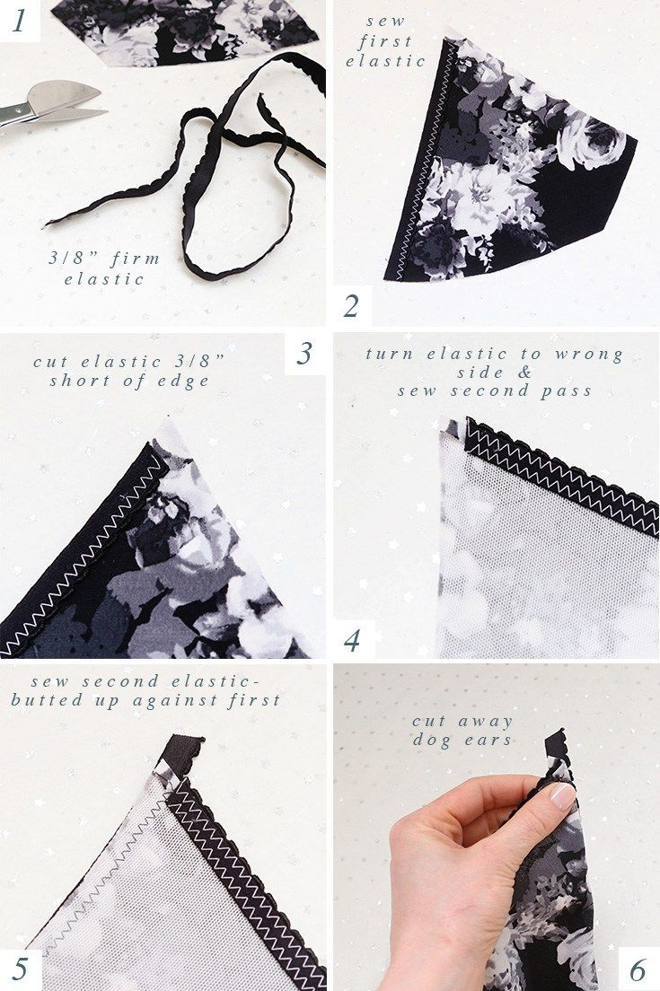 Elastic on Lingerie   How To Sew Lingerie Tutorial, Tips, and Tricks   How to Sew Bras and Panties   How to Make Underwear