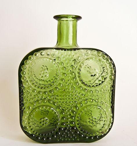 Retro RIIHIMAKI RIIHIMAEN Grapponia Art Glass By NANNY STILL