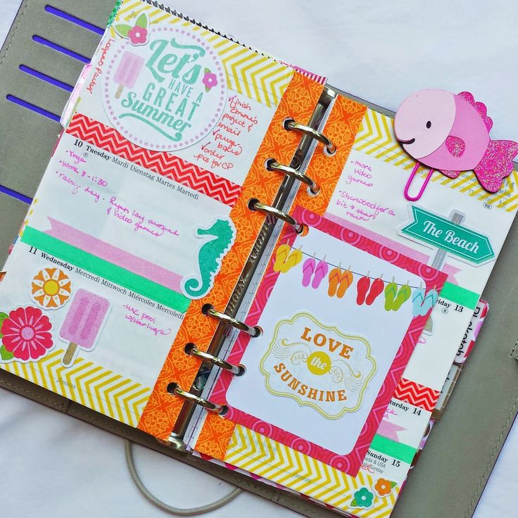 Bits and Pieces...: Welcoming Summer.  Sherbet colored cute journal, planner, filofax